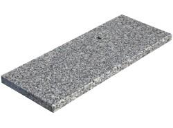Parapet granitowy szary -...